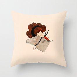 Taurus Girl Throw Pillow