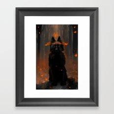 Crowned Wolf Framed Art Print