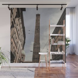 Two Towers, Bologna, Emilia Romagna, Italy, street photography, Torre degli Asinelli, italian city Wall Mural