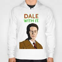 dale cooper Hoodies featuring DALE WITH IT. by Chris Piascik