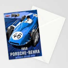 Racing Car Poster Stationery Cards