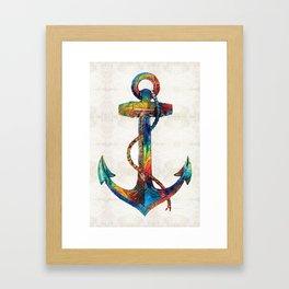 Nautical Anchor Art - Anchors Aweigh - By Sharon Cummings Framed Art Print