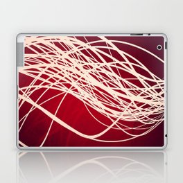 Linear Flow-Red Complex Laptop & iPad Skin