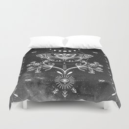Magical Moth Black Duvet Cover
