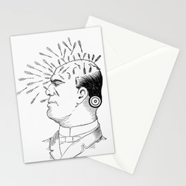 Vintage Art Print - Phrenology Diagram from Vaught's Practical Character Reader (1902) Stationery Cards