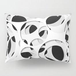 Paper cutout circles 009 Pillow Sham