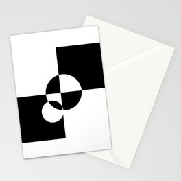 Retro Mod Checkerboard Dot Stationery Cards