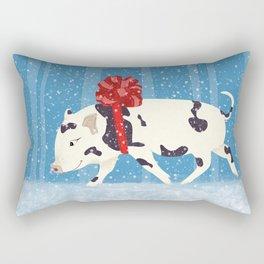 Cute Little Pig Holiday Design Rectangular Pillow