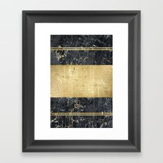 marble in gOld Framed Art Print