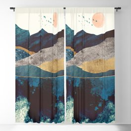 Blue Mountain Reflection Blackout Curtain
