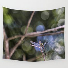 Dragon Fly in Forest Wall Tapestry