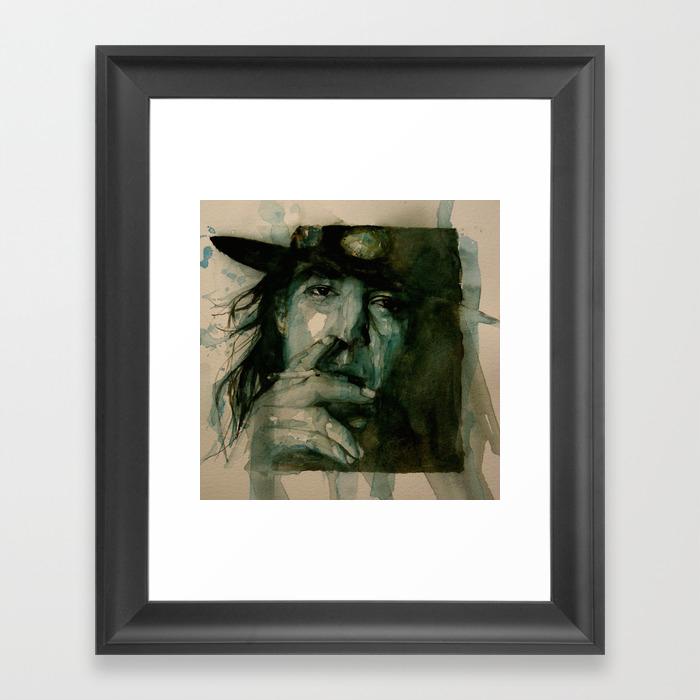 Stevie Ray Vaughan Framed Art Print by Paulloveringwatercolors FRM2398631