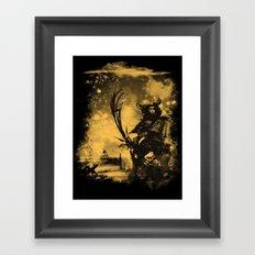 samourai bot Framed Art Print
