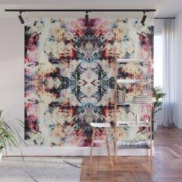Colorful Abstract Batik Butterfly Rorschach Ink Blot Art Universe No5 Wall Mural