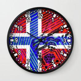 circuit board Norway (Flag) Wall Clock