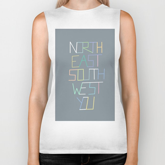 North East South West You Biker Tank