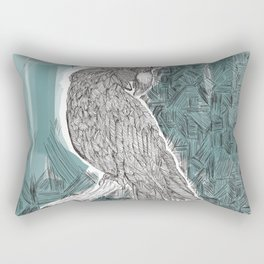 Blue Cockatoo Rectangular Pillow
