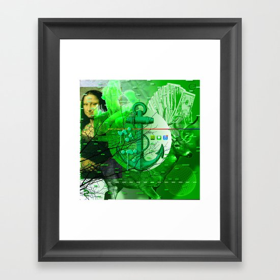 Rejected < The NO Series (Green) Framed Art Print