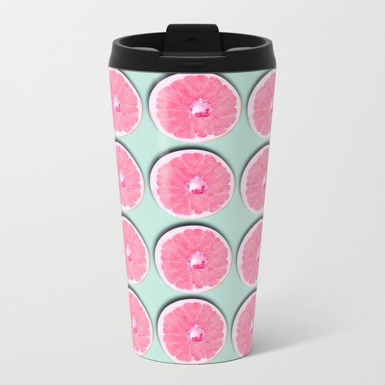 Grapefruit Metal Travel Mug