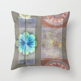 Intercuts Spacing Flowers  ID:16165-035402-83141 Throw Pillow