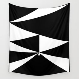 Triangles in Black and White Wall Tapestry