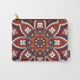 Painterly Nature Boho Floral Mandala Carry-All Pouch