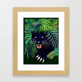 Black Panther Jungle Spirit Framed Art Print