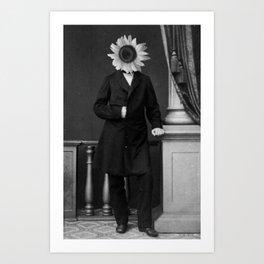 Smart Sunflower.1885. Art Print