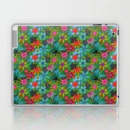 Pattern kitties and flowers Laptop & iPad Skin