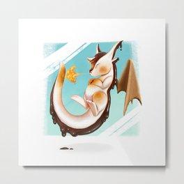 S'mores Dragon Metal Print