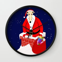 Christmas Whippet Wall Clock