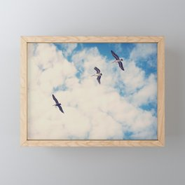 Flying Over Seas Framed Mini Art Print