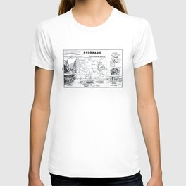 Vintage Map of Colorado (1912) T-shirt