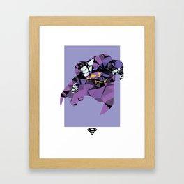 Bizarro Polygon Mesh Framed Art Print