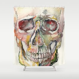 Human Skull Painting Shower Curtain