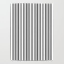 Trendy French Black and White Mattress Ticking Double Stripes Poster