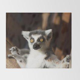 Lemur Catta Throw Blanket