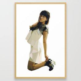 White Dress in a Dark Room Framed Art Print