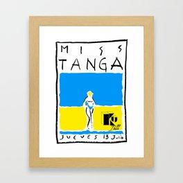 Miss Tanga Framed Art Print