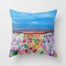 Lilies Throw Pillow
