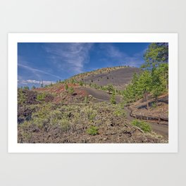 View from the Lower Lava Trail near Sunset Crater Volcano. Art Print