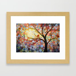 Abstract Art Landscape Original Painting ... Celestial Sunset Framed Art Print