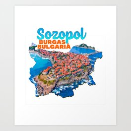 Sozopol Burgas Bulgaria Bulgarian Black Sea Coast Pond Water Green Tree Art Print