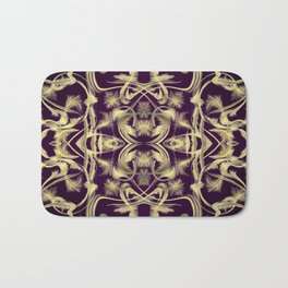 dark purple Digital pattern with circles and fractals artfully colored design for house and fashion Bath Mat