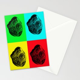 Pop Art Fossil Stationery Cards