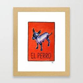 El Perro Framed Art Print