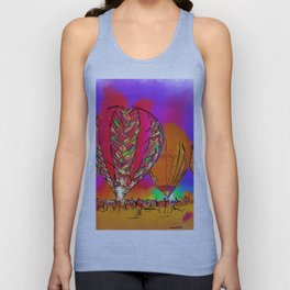 Hot Air Balloons In Subtle Abstract Unisex Tank Top
