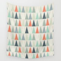 triangles Wall Tapestries featuring Triangles by Dizzy Moments