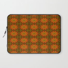 Autumnal Leaves Red and Green Repeating Pattern Laptop Sleeve