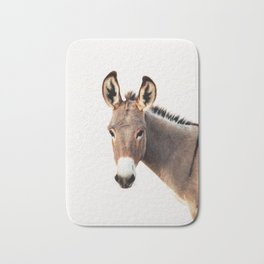 Gentle Wild Donkey portrait Bath Mat